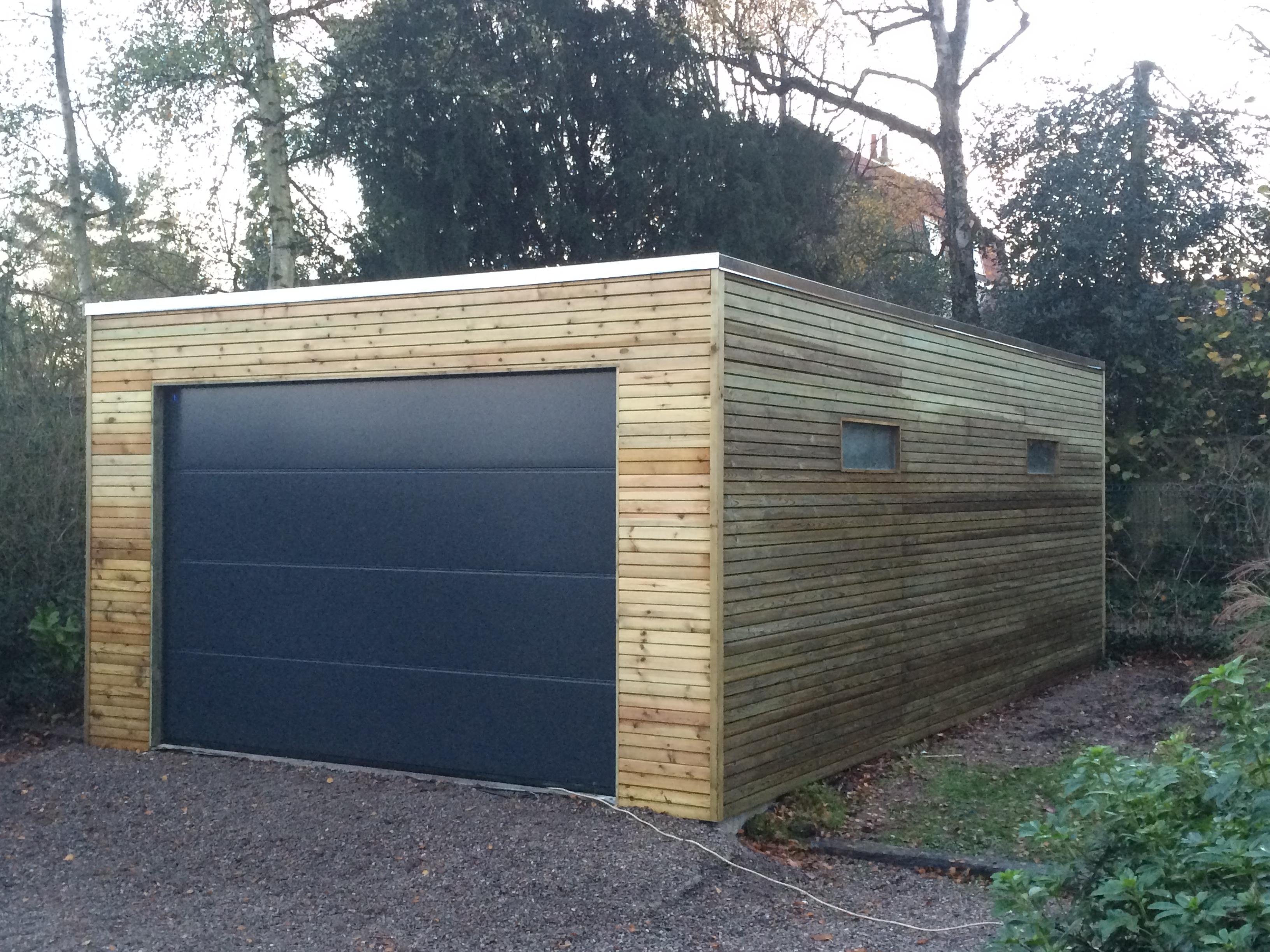 Garage en bois en belgique for Chalet de jardin belgique